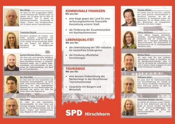 Unser Flyer für die Kommunalwahl am 6. März - Liste 2 SPD wählen!